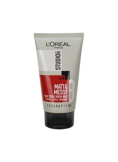 L'Oréal Paris Studio Line Matt & Messy Mat Etkili Krem Wax Renkli